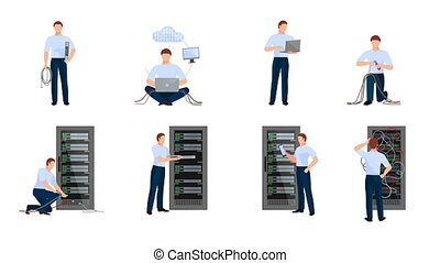 Network engineer video animation footage - Network engineer...