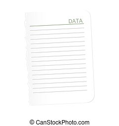 sheet of paper with  ragged edge. Torn   empty space for your text. Vector illustration.