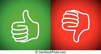 thumbs up down and set