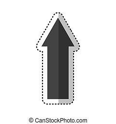 arrow index isolated icon vector illustration design