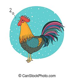 Rooster. Cartoon cock. isolated objects on white background....