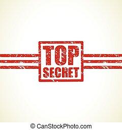 top secret icon stamp