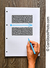 Find a better solution or shortcut concept with maze and...