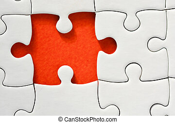 One missing piece of puzzle