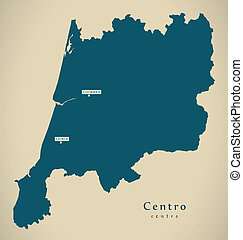 Modern Map - Centro Portugal PT illustration