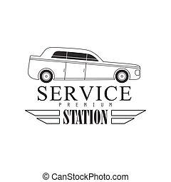 clipart vector of vintage label design mechanic auto repair patch