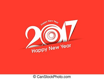 abstract happy new year 2017 text background