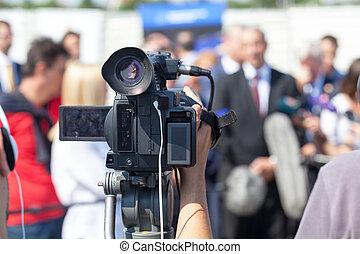 會議, 适于拍照, 照像機, 影像, 壓