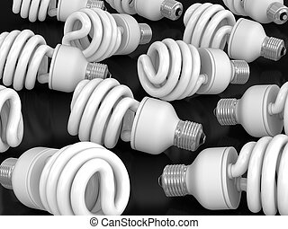 Energy Saving Light Bulb. Image with clipping path
