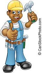 Black Carpenter Handyman - A black handyman carpenter...