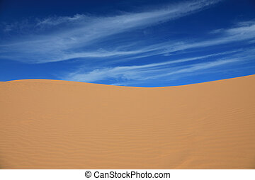 Sand dunes in Mui Ne, Vietnam - Red sand dunes on the...