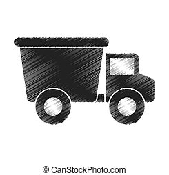 truck baby toy icon vector illustration design