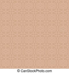 Neutral Seamless Linear Flourish Pattern. - Neutral Seamless...