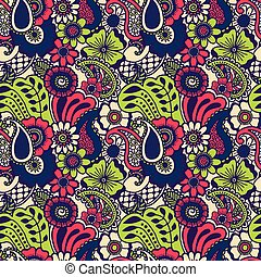 Paisley seamless colorful pattern