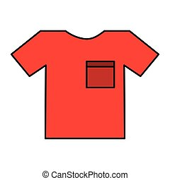 t-shirt clothes isolated icon