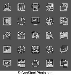 Accounting concept icons