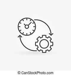 Productivity line icon. Vector time management and...