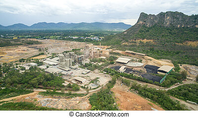 Industry plant near mountain in Thailand