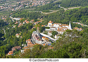 City of Sintra - View to Historic Center City of Sintra in...