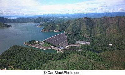 Srinagarind Dam in Kanchanaburi, Thailand