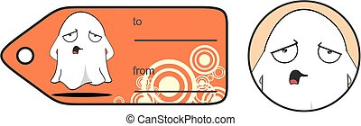 sad funny ghost cartoon expression giftcard - funny ghost...