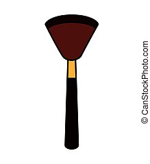 make-up brush isolated icon vector illustration design
