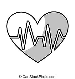 heart with pulse symbol