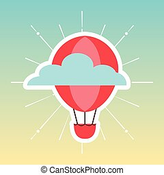 balloon air travel icon vector illustration design