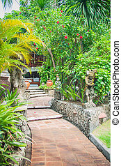 Balinese jungle and architecture - Green jungle and hindu...
