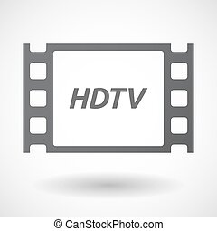 Isolated frame with the text HDTV - Illustration of an...