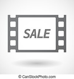 Isolated frame with    the text SALE