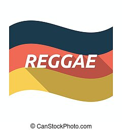 Isolated german flag with the text REGGAE - Illustration of...