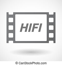 Isolated frame with the text HIFI - Illustration of an...