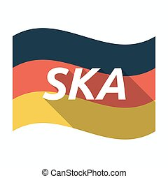 Isolated german flag with the text SKA - Illustration of an...