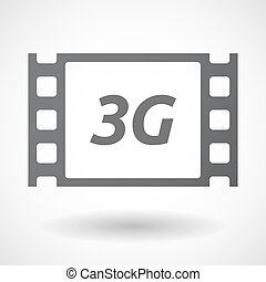 Isolated frame with the text 3G - Illustration of an...