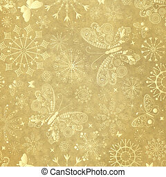 Old yellow christmas paper