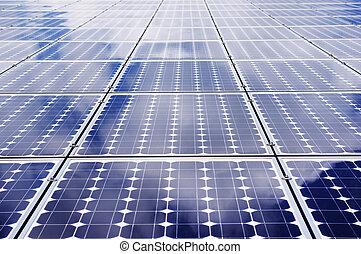 Solar energy - Solar panel frontal view. - Clean,...