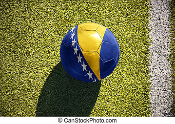 football ball with the national flag of bosnia and...