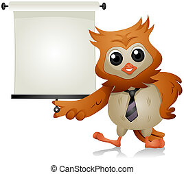 Owl Lecture with Clipping Path