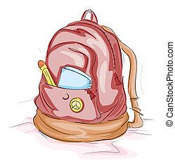 escuela, bolsa