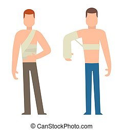 Trauma accident and human body safety vector people...