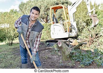 Gardener getting stuck in