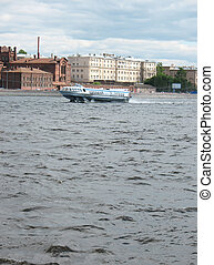 u041Cotor ship quot;Meteorquot; on Neva Riv - u041Cotor ship...