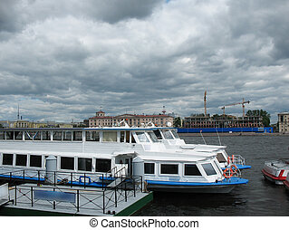 Berth on the embankment of Robespierre. St. Petersburg