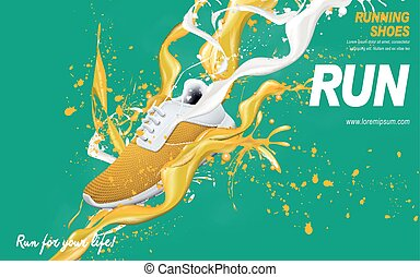 yellow running shoes ad - yellow running shoes with special...