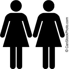 lesbian couple isolated vector illustration