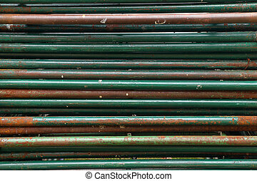 rusty metal pipelines background, pipelines construction of scaffolding