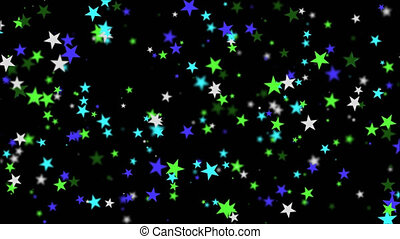 Star confetti Alpha channel