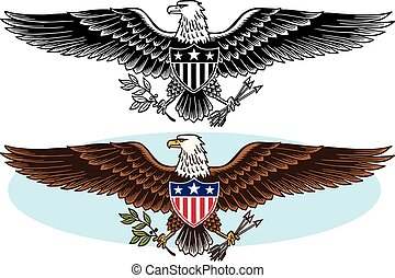 American Eagle Icon - An American bald eagle patriotic icon