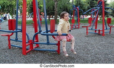 baby at the park gym